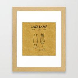 Lava Lamp Patent 1 Framed Art Print