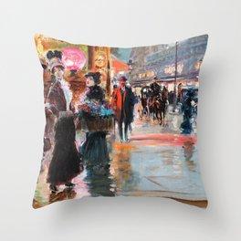 Paris Department Store - Georges Stein Throw Pillow