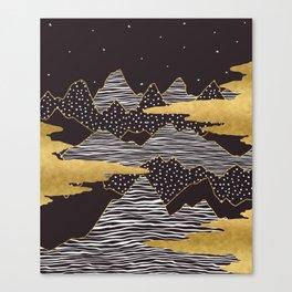 Gold Mountain Peaks Canvas Print
