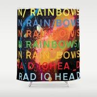 radiohead Shower Curtains featuring Radiohead - In Rainbows by NICEALB