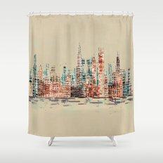 chicago city skyline Shower Curtain