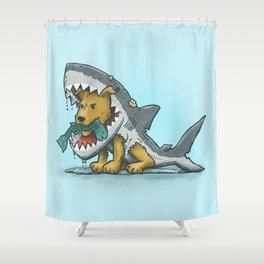 Shark Suit Dog Shower Curtain