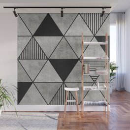 Concrete Triangles 2 Wall Mural