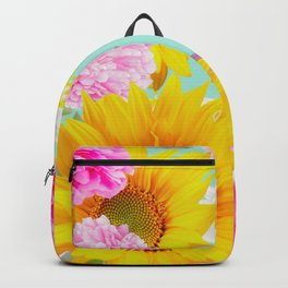 Summer Vibes With Colorful Flowers #decor #society6 #buyart Backpack