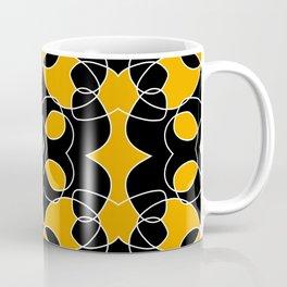 Dichromatic Black and Yellow Pattern Bat Coffee Mug