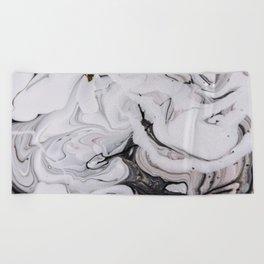 Elegant dark swirls of marble Beach Towel