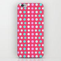 polka dots iPhone & iPod Skins featuring Polka Dots by Ornaart