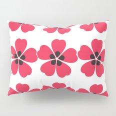 Japanese Sakura Floral Pattern - White Pillow Sham