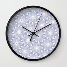 Pale flower pattern Wall Clock
