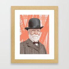 Andrew Carnegie Alternate Color Framed Art Print