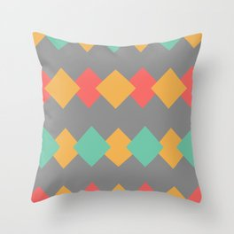 Minimal Abstract Lucite green, Coral, Grey, Honey, and White 05 Throw Pillow