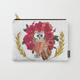 Owl with Rose Halo Carry-All Pouch