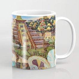 The Totonac Civilization or the Jaguar People in Veracruz, Palacio Nacional Mexico by Diego Rivera Coffee Mug
