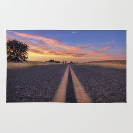 Follow the.... Millville Plains Road at sunset Rug