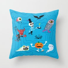 The Halloween Parade Throw Pillow
