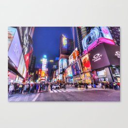 Night Time Times Square Canvas Print