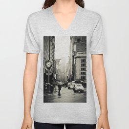 New York City - 5th Avenue in the Rain Unisex V-Neck