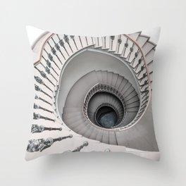 Pretty white spiral staircase Throw Pillow