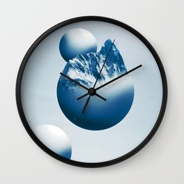 Ice Mountain Planet Wall Clock