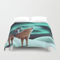 howl Duvet Covers featuring Howl by slewisillustration