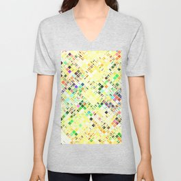 Re-Created  Mosaic No. THIRTEEN by Robert S. Lee Unisex V-Neck