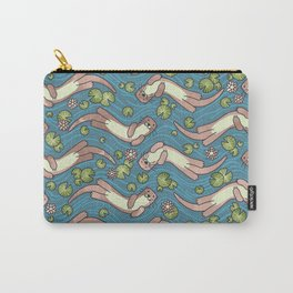 Swimming Otters Pastel Tones Carry-All Pouch