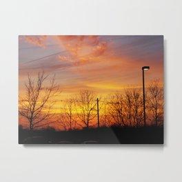Sunset in Wrentham, MA Metal Print