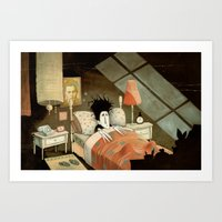 edward scissorhands Art Prints featuring Edward Scissorhands by Daniela Volpari
