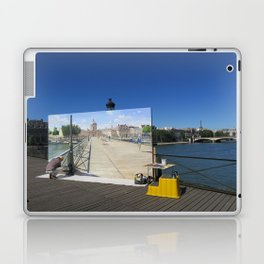 Painter On The Boardwalk (Seine, France) Laptop & iPad Skin