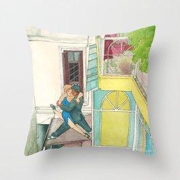 Calle Ecuador, a daydream tango Throw Pillow