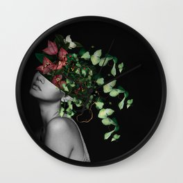 Lady Flowers X Wall Clock