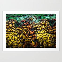 Crocodile color print texture Art Print