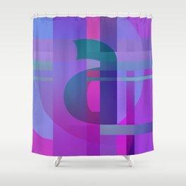 Purple A Shower Curtain