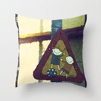 kids Throw Pillows featuring Kids by LoRo  Art & Pictures