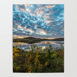 Wichitas Wonder - Fall Colors and Big Sky in Oklahoma Poster