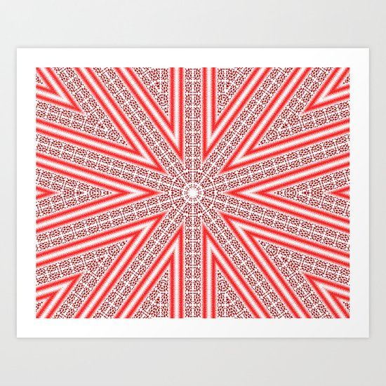 Kaleidoscope Heart Pattern Art Print