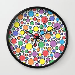 Colored Bubbles  Wall Clock