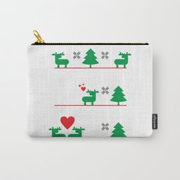 Ugly Christmas Deer love story #society6 #decor #buyart #artprint Carry-All Pouch