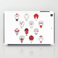 calendar iPad Cases featuring Calendar monsters by Nika Belova