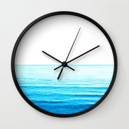 Blue Ocean Illustration Wall Clock