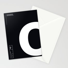 Helvetica Alphabet: Vowels Oo Stationery Cards