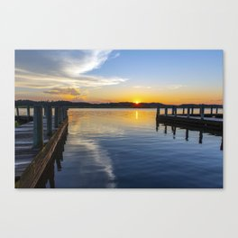 Sunset at the Boat Ramp Canvas Print