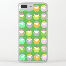 Baby Lambs in the Meadow Clear iPhone Case