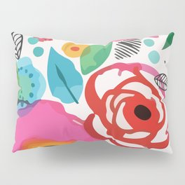 Abstract Floret Pillow Sham