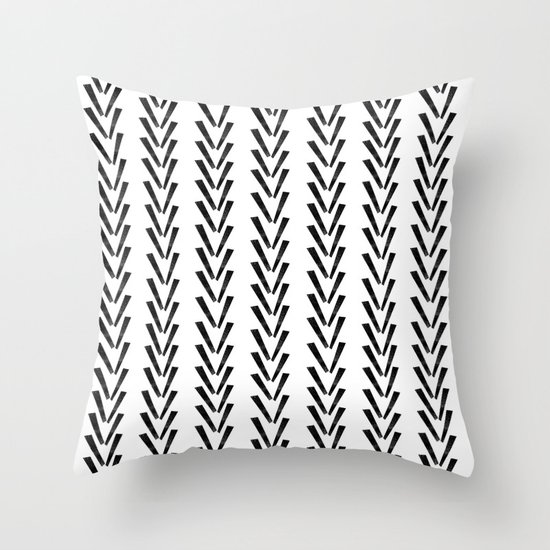 Linocut Abstract Minimal Chevron Pattern Basic Black And