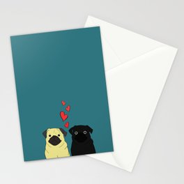 Pugs In Love Stationery Cards