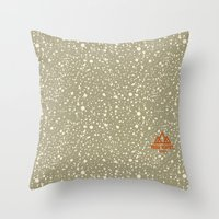 Trail Status / Beige Throw Pillow