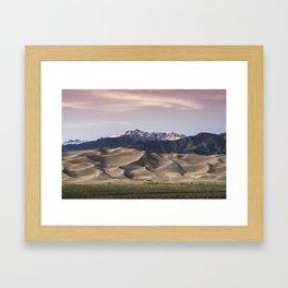 Dunes Sunset Framed Art Print