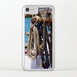 Ropes and Blocks Clear iPhone Case