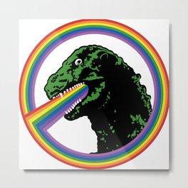 Rainbow Lizard Metal Print